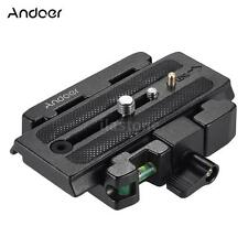 Andoer Video Camera Tripod Quick Release Plate Clamp Adapter for Manfrotto T9U0