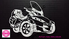 CAN-AM SPYDER  RT - WINDOW DECAL / STICKER  - 13 vinyl colors
