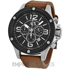 *NEW* MENS ARMANI EXCHANGE STREET BROWN CHRONO WATCH - AX1509 - RRP £175.00