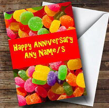 Jelly Tots Personalised Anniversary Greetings Card