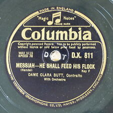 "78rpm 12"" DAME CLARA BUTT he shall feed his flock / o rest in the lord - messiah"