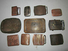 VTG LOT OF 11 OLD AND RUSTY BELT BUCKLES - SEE PICS -TUB CR