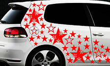 93 Sterne Star Auto Aufkleber Set Sticker Tuning Shirt Stylin WandtattooTribel ä