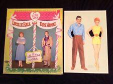 Desi Arnaz Lucille Ball Vintage Whitman 1953 I LOVE LUCY Paper Dolls & Folder