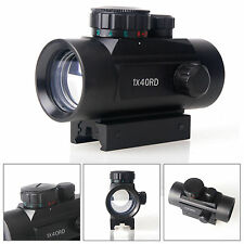 1x40mm Tactical Reflex Red/Green Dot Sight Scope w/ Free Mount Hunting
