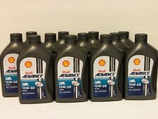 6,45€/l Shell Advance Ultra 4T 15W-50 12  x 1 L fully syn 4-stroke oil