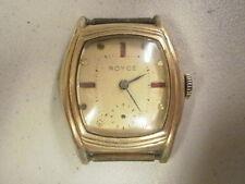 Vintage Deco Style Men 7j Royce Kocher Eska Wrist Watch 10K RGP Case 4u2Fix READ