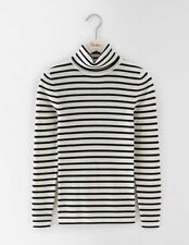 Boden Womens Rib Roll Neck Merino Blend Stripe Sweater Jumper XL BNWT RRP £63.50