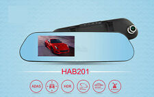 "Ambarella A12 5"" Big screen Car Rear Mirror DVR Camera Dashcam HD 1440P ADAS HDR"