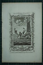 c1778 ANTIQUE PRINT ~ DUKE OF SUFFOLK BEHEADED IN LONG BOAT DOVER