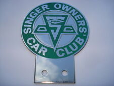 VINTAGE SINGER OWNERS' CLUB CAR BADGE