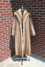 EDWARDS LOWELL VINTAGE STONE MARTEN ROCK SABLE FUR COAT JACKET STROLLER SMALL