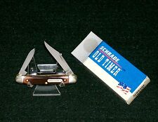 """Schrade 104OT Old Timer Knife 2-3/4"""" Closed """"The Minuteman"""" 2001 W/Packaging USA"""