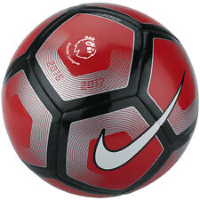 Nike League EPL  Pitch Soccer Ball  2016 - 2017 Red/ Black / Silver Size 4
