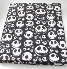 NIGHTMARE BEFORE CHRISTMAS Jack Skellington Black Polycotton Fabric Per Meter