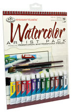 Watercolor Painting Set Paint Paper Brushes RD502