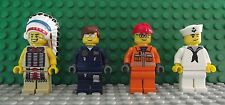 Lego Brand New YMCA Village People Mini Figures Sailor Indian Worker Policeman