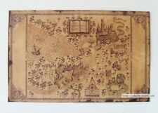 """Retro wizarding world of harry potter Map 20.8""""x13.4"""" Vintage Paper Poster UK079"""
