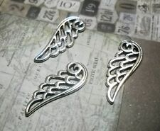 Angel Wing Charms Pendants-Wing Pendants Charms-Filigree-Antiqued Silver-10pcs