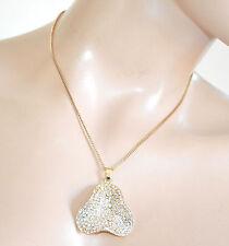 COLLANA donna girocollo oro ciondolo strass catenina bigiotteria collier F310
