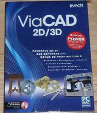 Brand New Punch ViaCad 2D/3D V9 +Power Pack LT PC or Mac 3D Printer Support