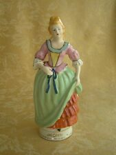 MARUYAMA Occupied Japan Colonial Lady Figurine Green Pink & Gold Gilt