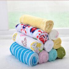 8x Baby Infant Newborn Burp Cloths Bath Towel Washcloth Bathing Feeding Cloth