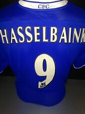 Signed Jimmy Floyd Hasselbaink Retro Chelsea Home Shirt