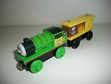 Thomas Wooden Train Happy Easter Percy and the Chocolate Bunny Box Car Set Used