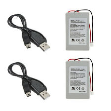 2X Replacement Battery  + USB Charger Cable Pack For SONY PS3 SLIM Controller