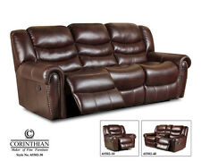 Corinthian Motion Sofa and Console Love with Available Recliner