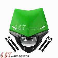 Green Universal Headlight Motorcross Front Light For KAWASAKI KX 250 250F New