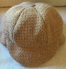 Eugenia Kim Camel Colored Wool Cap With Ear flaps Never Worn