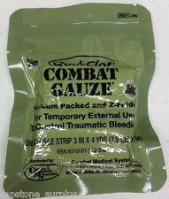 Z-Medica QuikClot Combat Gauze Quick Clot Exp 02/2020 Z-Folded Vacuum Packed NSN