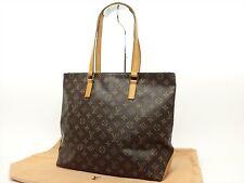 Louis Vuitton Authentic Monogram Cabas Mezzo Tote Shoulder Shopping Shoppers Bag