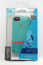 Speck Candyshell Flip Hard Shell Snap Case for iPhone SE 5 5S (Pool Blue/Pink)
