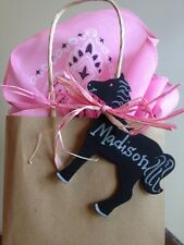 24 Chalkboard Pony Horse Western Cowgirl Birthday party favor tags labels