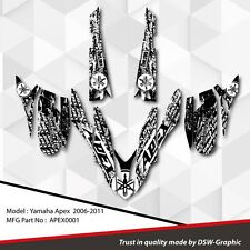 *NEW* SLED GRAPHIC KIT GRAPHICS WRAP FOR YAMAHA APEX 2006-2011 APEX0001