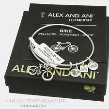 Authentic Alex and Ani Bike Rafaelian Silver Charm Bangle CBD