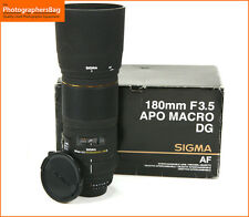 Sigma 180mm f/3.5 Apo Ex Dg Hsm MacRo Lente-Nikon Fit Free UK Post