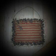 Prim~Americana~Patrioitic~Raggy~Homespun~Flag~Ornie~Cupboard Tuck~Bowl Filler~