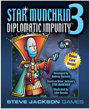 Star Munchkin 3 Diplomatic Impunity Card Game Expansion Steve Jackson Games 1506
