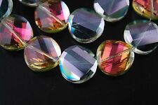 10pcs Hot Colorized Glass Crystal Twist Tile Beads 14mm Spacer Jewelry Findings