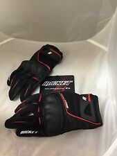 JOE ROCKET MENS SUPER MOTO TOUCH RACING GLOVES  BLACK RED SIZE XL REAL PIC