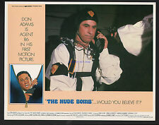 GET SMART THE NUDE BOMB FOUR RARE 1980 11X14 U.S. LOBBY CARDS DON ADAMS
