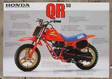 HONDA 1983 QR50 VINTAGE FUEL TANK WINGS decal stickers mini trail 50cc mini bike