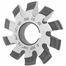 Involute Gear Cutter 14.5° Pressure Angle Diametrical Pitch 4 Cutter #6