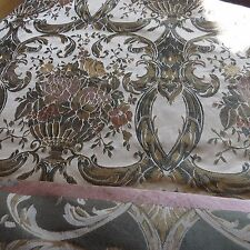 MASSIVE REMNANT Heavyweight Floral Damask Fabric - Approx 150cm x 2.5M