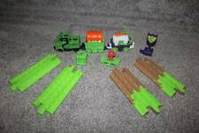GeoTrax Joker Track & Accessories 11 piece Set Batman Train Lot Fisher Price Toy