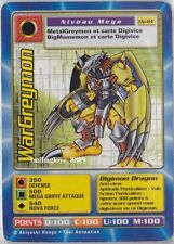 1 USED FRENCH DIGIMON CARD - EXTENSION MEGA PACK - Mp-84 WARGREYMON Rare Find